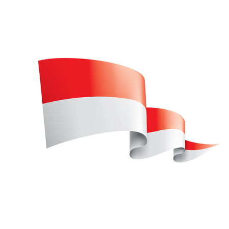 Indonesia flag, vector illustration on a white background.