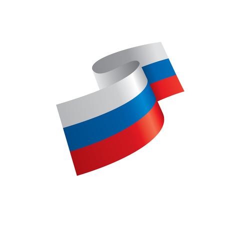 Bandera de Rusia, ilustración vectorial sobre un fondo blanco. Ilustración de vector