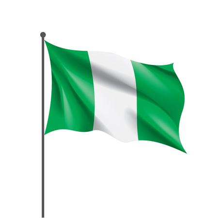 Nigeria flag, vector illustration Stock Illustration - 106994131