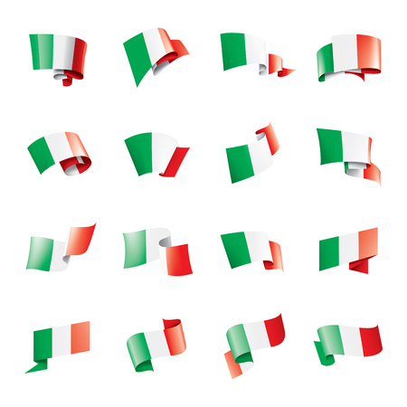 Italy flag, vector illustration on a white background 일러스트