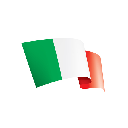 Italy flag, vector illustration on a white background 向量圖像