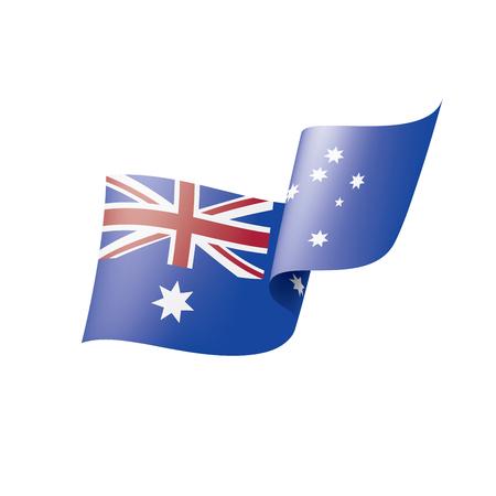 Australia flag, vector illustration on a white background.