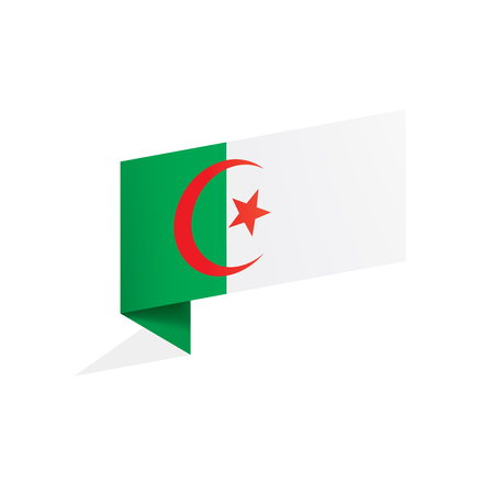 Algeria flag, vector illustration on a white background,