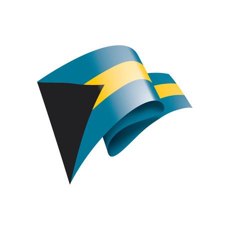 Bahamas flag, vector illustration on a white background. Illustration