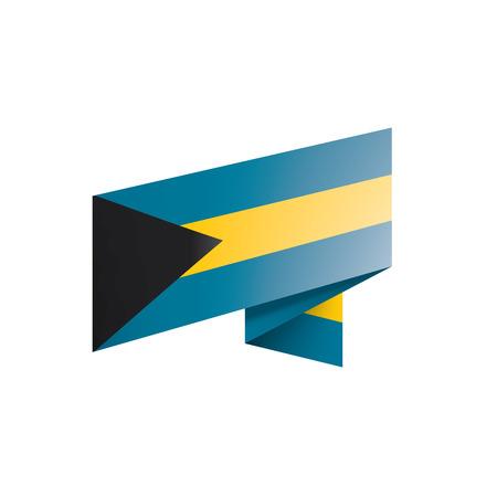 Bahamas flag, vector illustration on a white background. 矢量图像