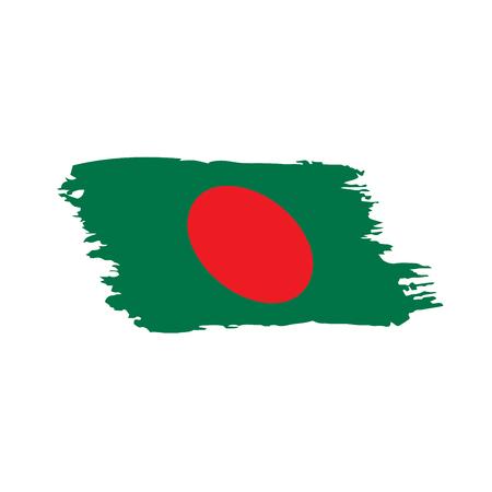 Bangladesh flag, vector illustration