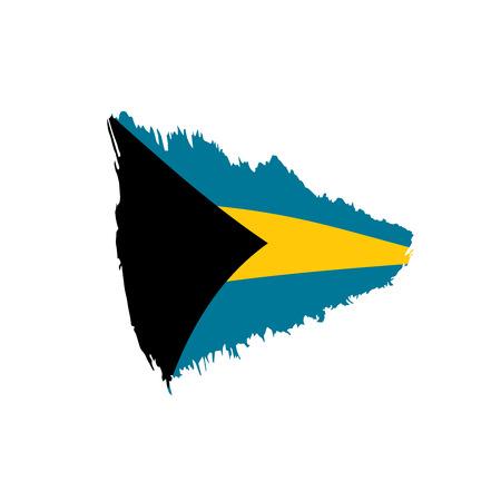 Bahamas flag, vector illustration