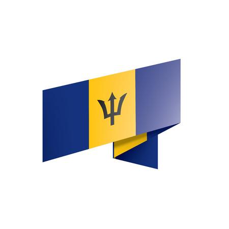 Barbados flag, vector illustration on a white background