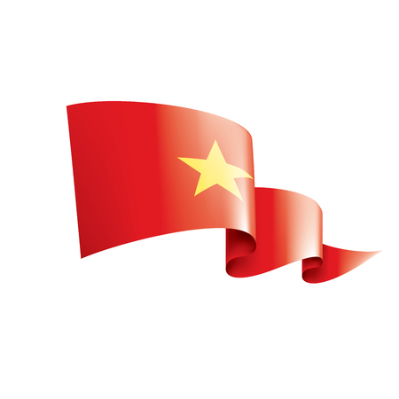 Vietnam national flag, vector illustration on a white background 矢量图像