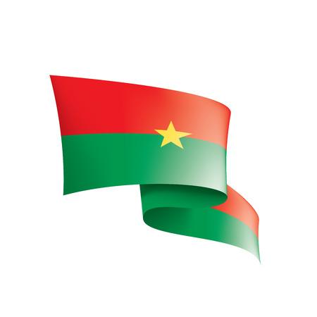 Burkina Faso national flag, vector illustration on a white background