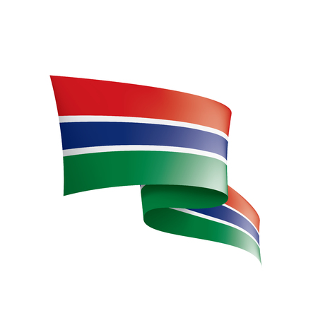 Gambia national flag, vector illustration on a white background Illustration