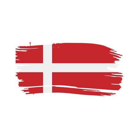 Denmark flag, vector illustration on a white background Vetores