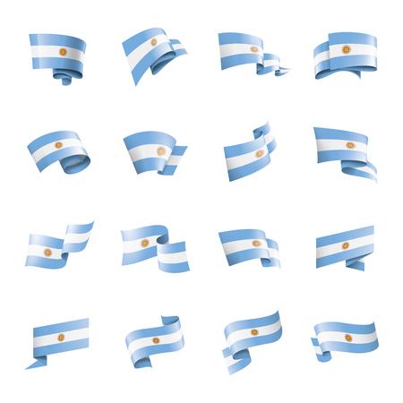 Argentina national flag, vector illustration on a white background Ilustracje wektorowe