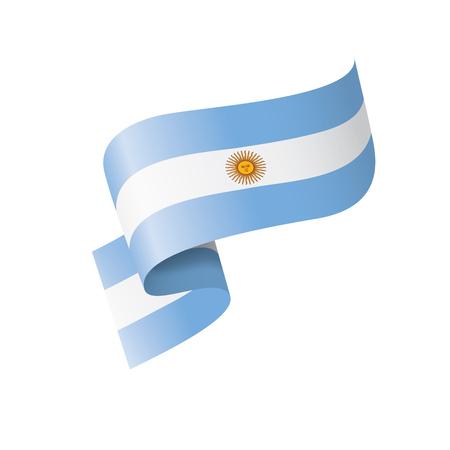 Flaga narodowa Argentyny, ilustracji wektorowych na białym tle