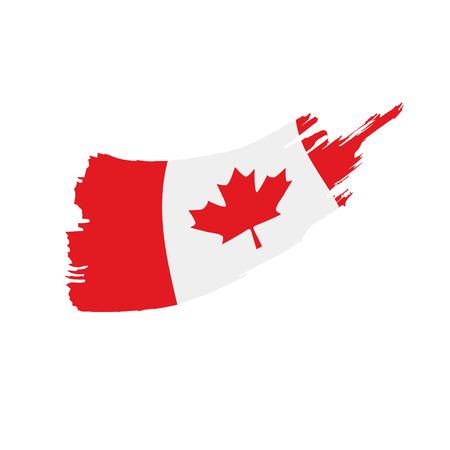 Kanada-Flagge, Vektorillustration auf einem weißen Hintergrund