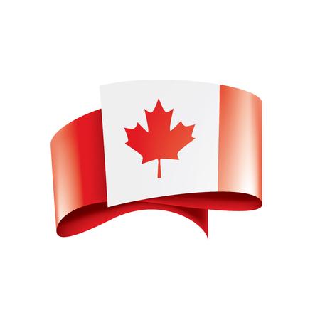 Drapeau du Canada, illustration vectorielle sur fond blanc Vecteurs