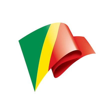Congo national flag, vector illustration on a white background Vetores