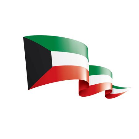 Kuwait national flag, vector illustration on a white background Vecteurs