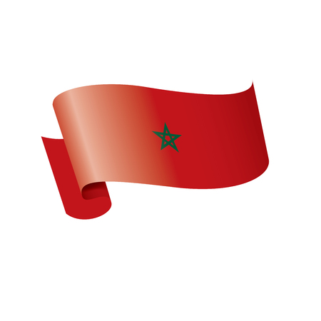 Morocco national flag, vector illustration on a white background