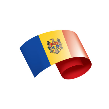 Moldova flag, vector illustration on a white background