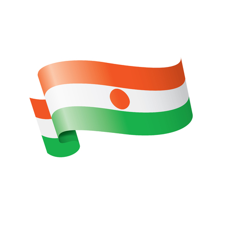 Niger national flag, vector illustration on a white background