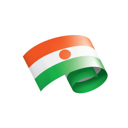 Niger national flag, vector illustration on a white background