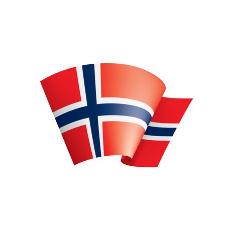 Norwegen Nationalflagge, Vektorillustration auf einem weißen Hintergrund Vektorgrafik
