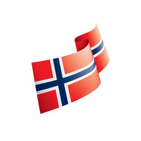 Norway national flag, vector illustration on a white background Stockfoto - 110462376