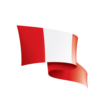 Peru national flag, vector illustration on a white background Illusztráció