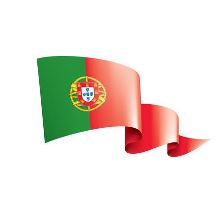Portugal flag, vector illustration on a white background
