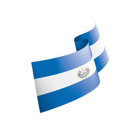 Salvador flag, vector illustration on a white background