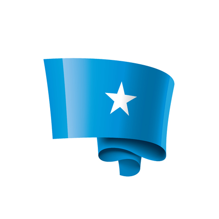 Somalia national flag, vector illustration on a white background Vector Illustratie