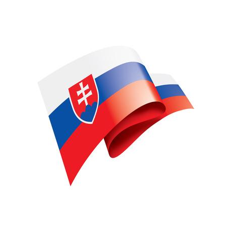 Slovakia national flag, vector illustration on a white background