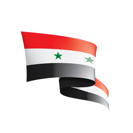 Syria national flag, vector illustration on a white background Vecteurs