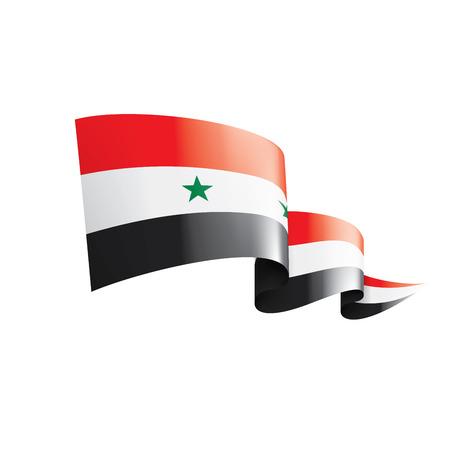 Drapeau national de la Syrie, illustration vectorielle sur fond blanc