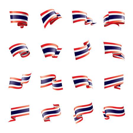 Thailand national flag, vector illustration on a white background Illustration