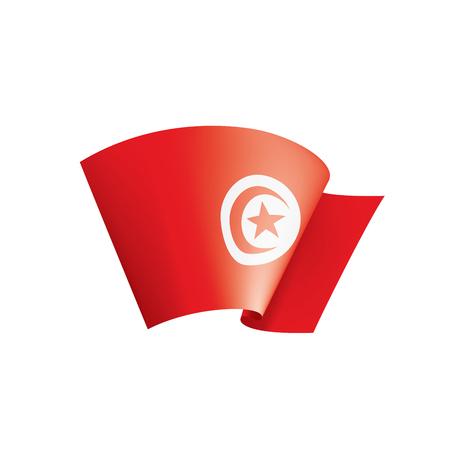 Tunisia national flag, vector illustration on a white background