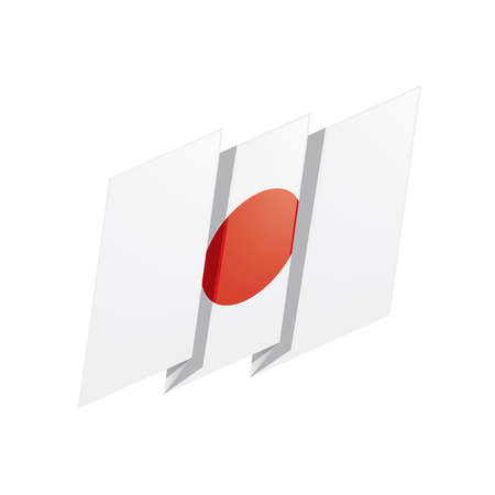 Japan flag, vector illustration on a white background