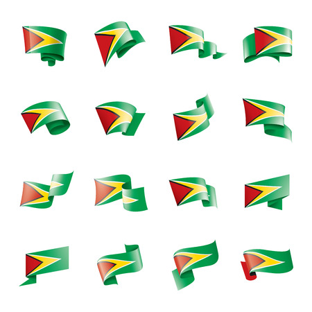 Guyana national flag, vector illustration on a white background