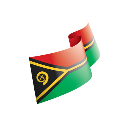 Vanuatu national flag, vector illustration on a white background Illustration