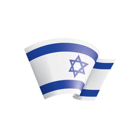 Israel national flag, vector illustration on a white background
