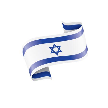 Bandiera di Israele, illustrazione vettoriale su sfondo bianco