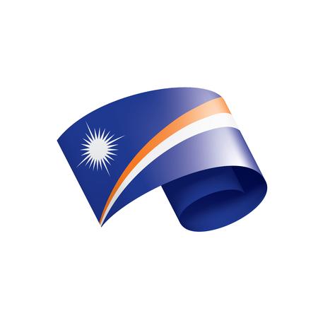 Marshall Islands national flag, vector illustration on a white background