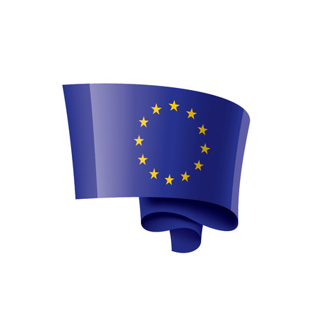 European union flag, vector illustration on a white background.