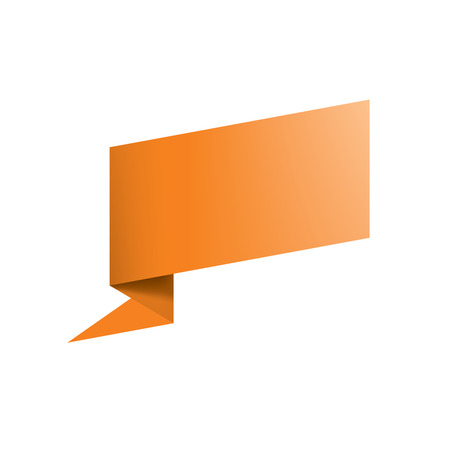 Waving the orange flag on a white background. Vector illustration Vectores