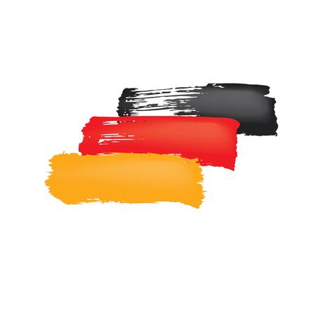 Deutschlandflagge, Vektorillustration auf weißem Hintergrund. Vektorgrafik