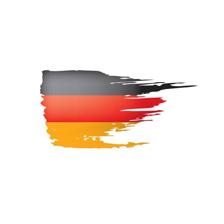 Vlag van Duitsland, vectorillustratie op een witte achtergrond. Vector Illustratie