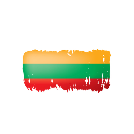 Lithuania flag, vector illustration on a white background. Çizim
