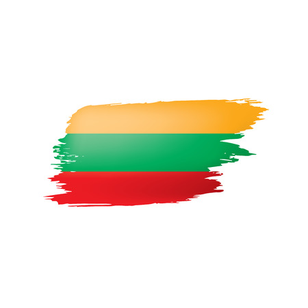Lithuania flag, vector illustration on a white background.