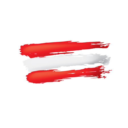 Austria flag, vector illustration on a white background. Vetores